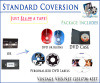 Standard video conversion customization Package